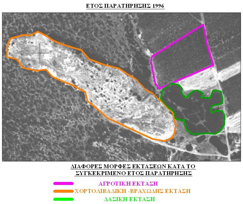 Μελέτη αεροφωτογραφίας για τον προσδιορισμό της μορφής έκτασης (γεωργική ,χορτολιβαδική και δασική)